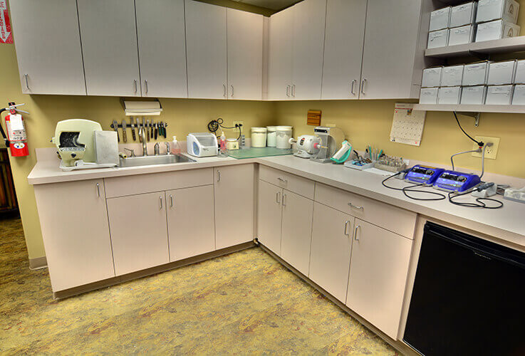 Sterilization and preparation room